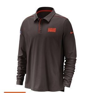 CLEVELAND BROWNS NIKE DRI-FIT POLO LONG SLEEVE 3XL